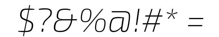 Exo 2 Extra Light Italic Font OTHER CHARS