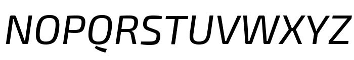 Exo 2 Italic Font UPPERCASE