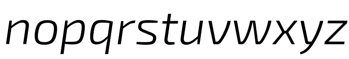 Exo 2 Light Italic Font LOWERCASE