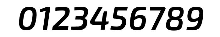 Exo 2 Semi Bold Italic Font OTHER CHARS