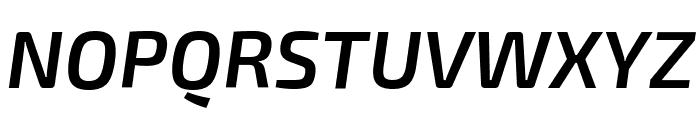 Exo 2 Semi Bold Italic Font UPPERCASE