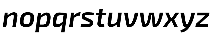 Exo 2 Semi Bold Italic Font LOWERCASE