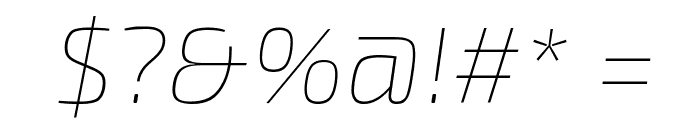 Exo 2 Thin Italic Font OTHER CHARS