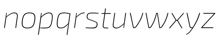 Exo 2 Thin Italic Font LOWERCASE