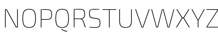 Exo 2 Thin Font UPPERCASE