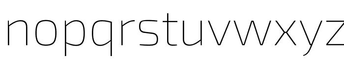 Exo 2 Thin Font LOWERCASE