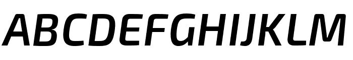 Exo 2.0 Semi Bold Italic Font UPPERCASE