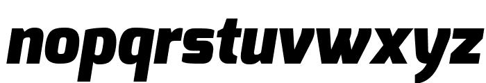 Exo Black Italic Font LOWERCASE