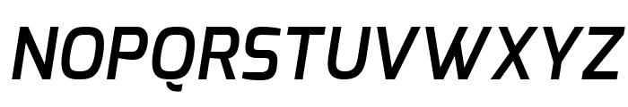 Exo Demi Bold Italic Font UPPERCASE