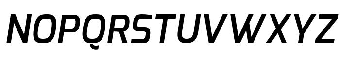Exo DemiBold Italic Font UPPERCASE