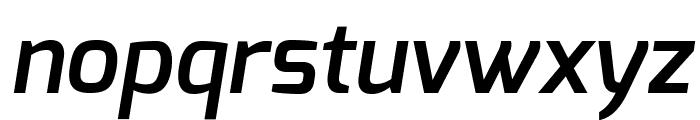 Exo DemiBold Italic Font LOWERCASE