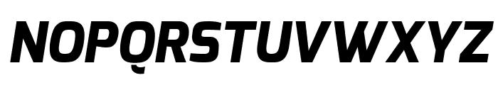 Exo ExtraBold Italic Font UPPERCASE