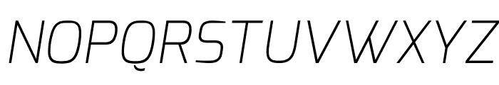 Exo ExtraLight Italic Font UPPERCASE
