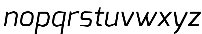 Exo Italic Font LOWERCASE