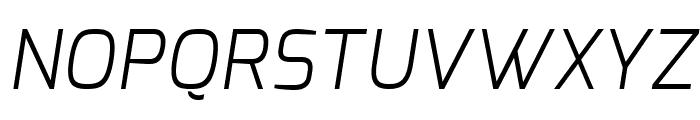 Exo Light Italic Font UPPERCASE