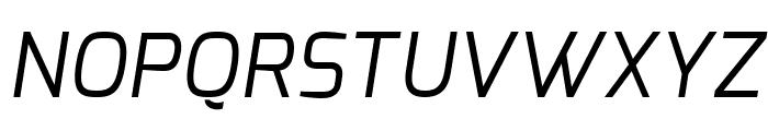 Exo Regular Italic Font UPPERCASE