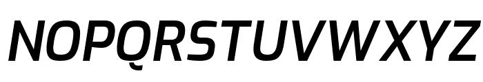 Exo SemiBold Italic Font UPPERCASE
