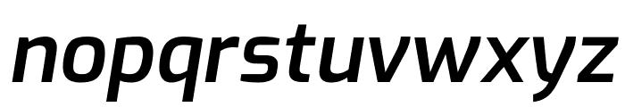 Exo SemiBold Italic Font LOWERCASE