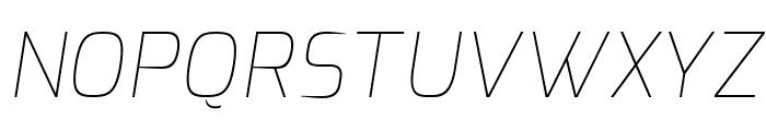 Exo Thin Italic Font UPPERCASE
