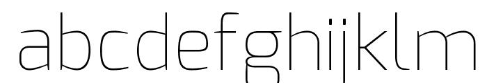 Exo Thin Font LOWERCASE