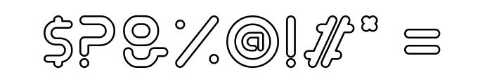 Exodar-Outline Font OTHER CHARS