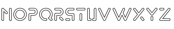 Exodar-Outline Font LOWERCASE