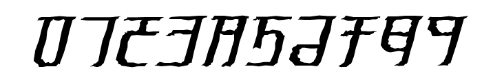 Exodite Distressed Italic Font OTHER CHARS
