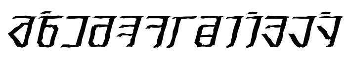Exodite Distressed Italic Font UPPERCASE