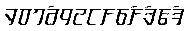 Exodite Distressed Italic Font LOWERCASE
