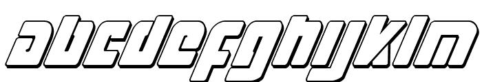 Exoplanet 3D Italic Font LOWERCASE