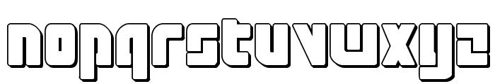 Exoplanet 3D Regular Font UPPERCASE