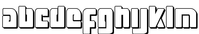 Exoplanet 3D Regular Font LOWERCASE