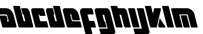 Exoplanet Leftalic Font LOWERCASE
