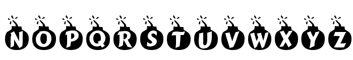 Explosif Font UPPERCASE