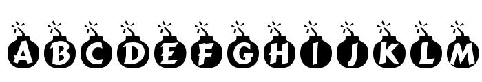 Explosif Font LOWERCASE