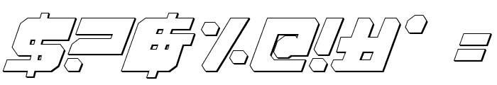 Extechchop Shadow Font OTHER CHARS