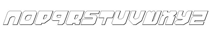 Extechchop Shadow Font LOWERCASE