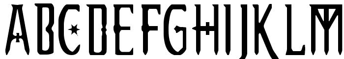 Extemplary Font UPPERCASE