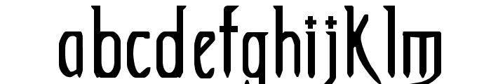 Extemplary Font LOWERCASE