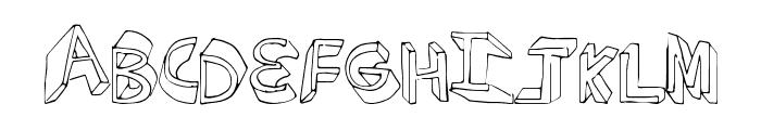 ExtraDimension Font UPPERCASE
