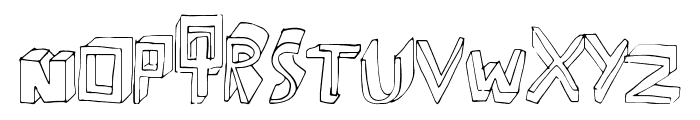 ExtraDimension Font LOWERCASE