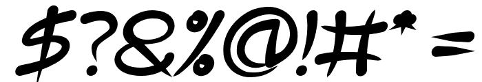 ExtraHot-BoldItalic Font OTHER CHARS