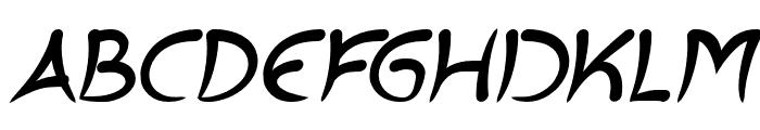 ExtraHot-BoldItalic Font UPPERCASE