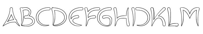 ExtraHotHollow Font UPPERCASE