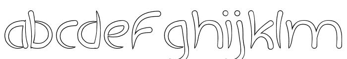ExtraHotHollow Font LOWERCASE