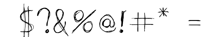 Extrafine Font OTHER CHARS