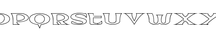Extrano - Borde Font LOWERCASE