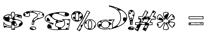 Extrano - Vaca Font OTHER CHARS