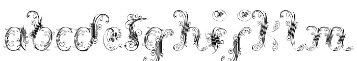Extravagant Pete Font LOWERCASE