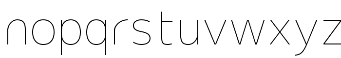 Extremame Thin Font LOWERCASE
